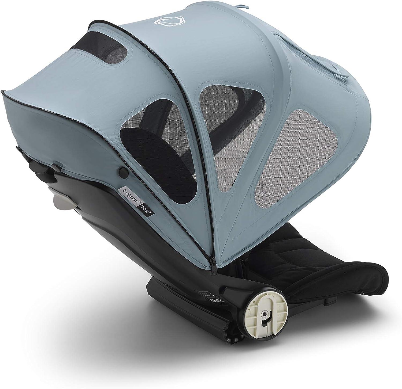 Bugaboo Bee capota ventilada - Capota extensible con protección solar UPF y paneles de malla ventilados, azul vapor