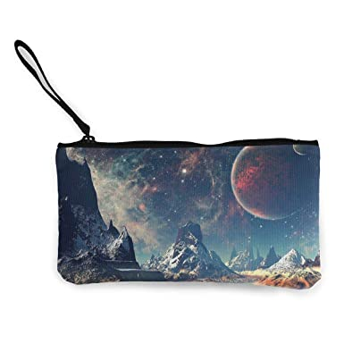 Maple Memories Natural Scenery Portable Canvas Coin Purse Change Purse Pouch Mini Wallet Gifts For Women Girls