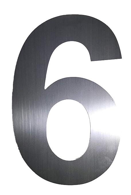 Amazon.com: Kiona Direcciones moderno Número Seis (6) – 6 ...