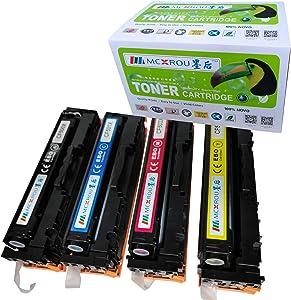 MCXROU MC-CF500X Compatible Toner Cartridge Replacement for HP CF500X CF501X CF502X CF503X (HP 202X) High Yield 4 Pack Black Cyan Magenta Yellow for Color Laserjet Pro M254dw MFP M281cdw MFP M281fdw