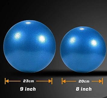 Xelparuc: pelota de pilates de 22,86 cm, bola de barrera, pelota ...