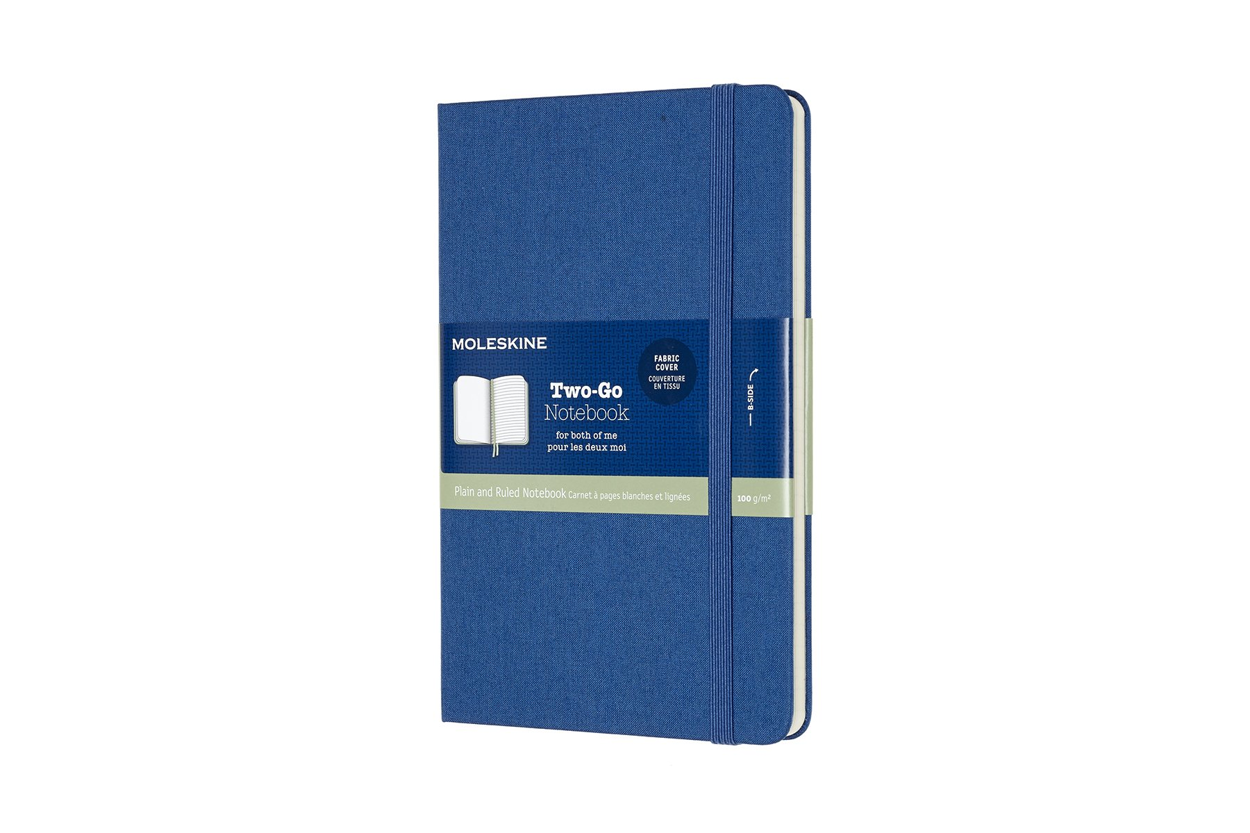 Moleskine Two-Go Hard Cover Notebook, Mixed (Ruled-Plain),..
