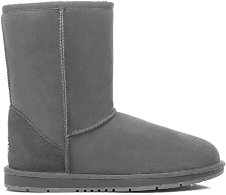 UGG Boots Short Classic Premium Australian Sheepskin Womens Mens Shoes Grey