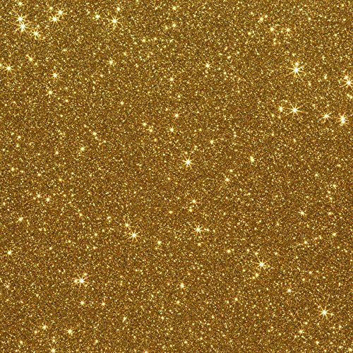 10x12 3-pack Glitter Iron-on Heat Transfer Vinyl Sheets (Old Gold)