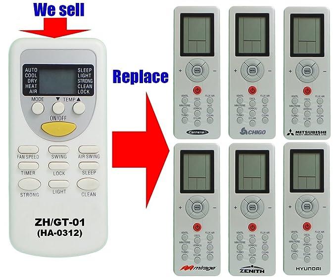 Repuesto para mando a distancia de aire acondicionado modelo ZH/GT ...