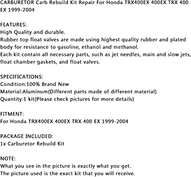 Artudatech Kit de reconstrucción de carburador de motocicleta ...