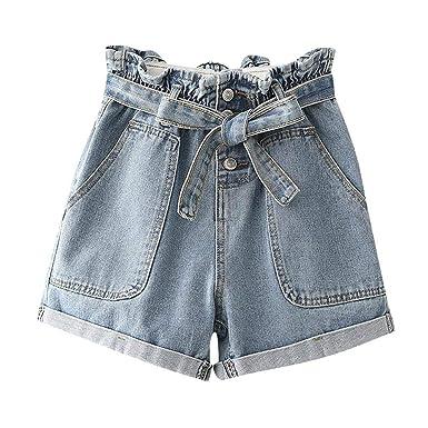QUICKLYLY Pantalones Cortos Mujer Vaqueros Verano 2019 Pantalón ...