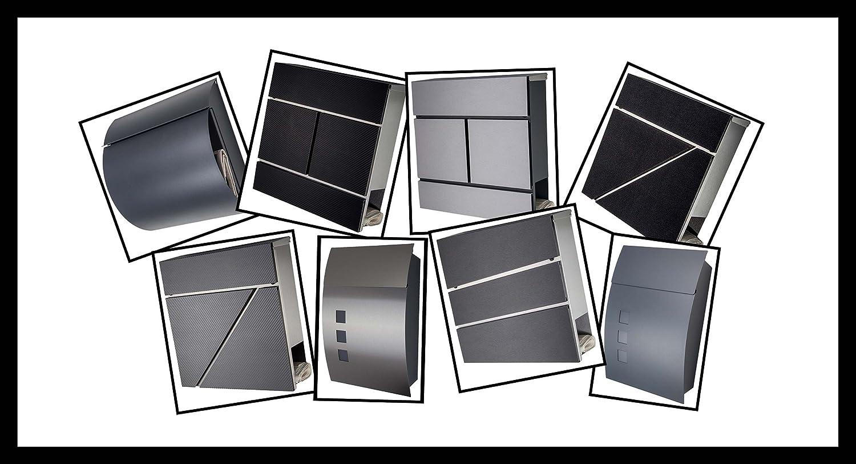 Hausnummer 8 Hausschild Edelstahl V2A w/ählbar 1 2 3 4 5 6 7 8 9 Arial 2D Design oder 3D Design und 1 x Acrylplatte 29cm x 21cm in anthrazit 8 2D,Arial