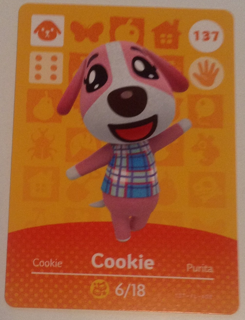 Nintendo Animal Crossing Happy Home Designer Amiibo Card Cookie 137/200 USA Version