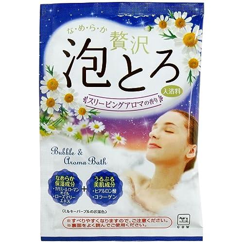 牛乳石鹸共進社 お湯物語 贅沢泡とろ 入浴料 スリーピングアロマの香り