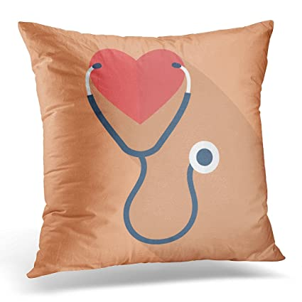 Amazon Emvency Throw Pillow Covers Doctor Heart With Mesmerizing Medical Pillow Covers