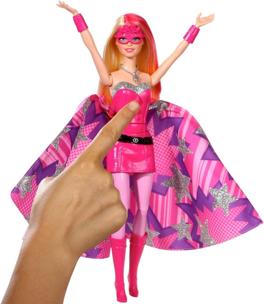 Barbie in Princess Power Superhero Doll In Pink *Spins To Transform* MATTEL