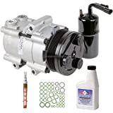 New AC Compressor & Clutch With Complete A/C Repair Kit For Ford Mustang GT - BuyAutoParts 60-81176RK New