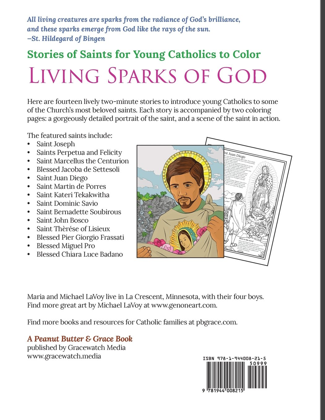 living sparks of god stories of saints for young catholics to