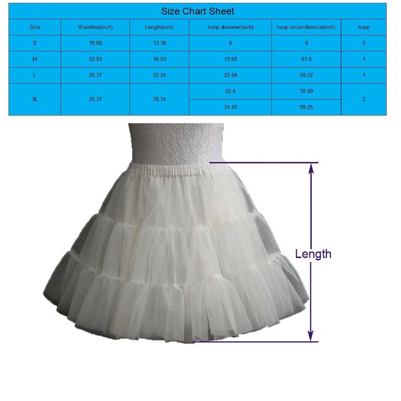 Noriviiq Kids White Prom Crinoline Hoops and Hoopless Half Slip Petticoat Skirt for Girls X-Large