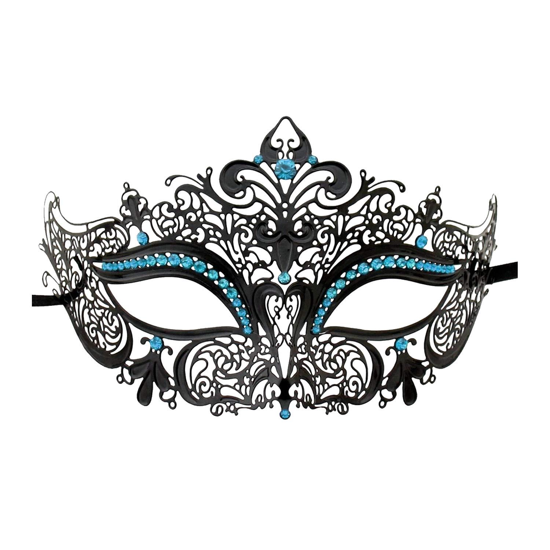 Crown Laser Cut Metal Women's Masquerade Mask Mardi Gras Mask dhglz001