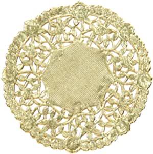 Hygloss Products 12 Inch Gold Foil Doilies - Round Doilies Made in the USA, 12 Pack