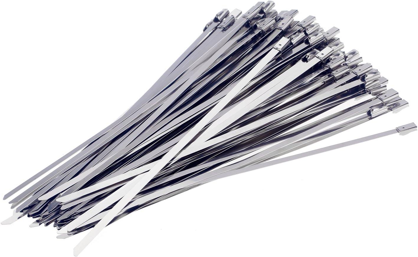 tinxi® 100x 300mm bridas metálicas Bridas banda de acero escudo térmico cinta envoltura de escape