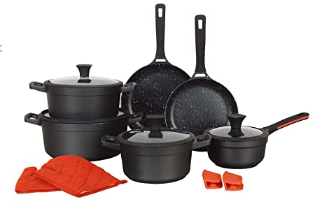 Mayerhoff - Batería de Cocina (14 Piezas): Amazon.es: Hogar