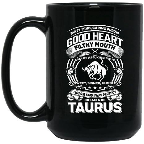 Amazon.com: Funny Taurus Zodiac taza de café – I m un ...