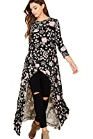 Annabelle 3/4 Sleeve High Low Casual Long Maxi Tunic Tops