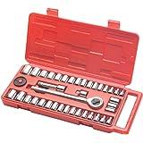 TEKTON 1012 1/4-Inch and 3/8-Inch Drive Socket Set, SAE/Metric, 40-Piece