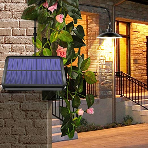Luz Solar Colgante Exterior, 16 Led Jardín Lámpara De Cobertizo De ...