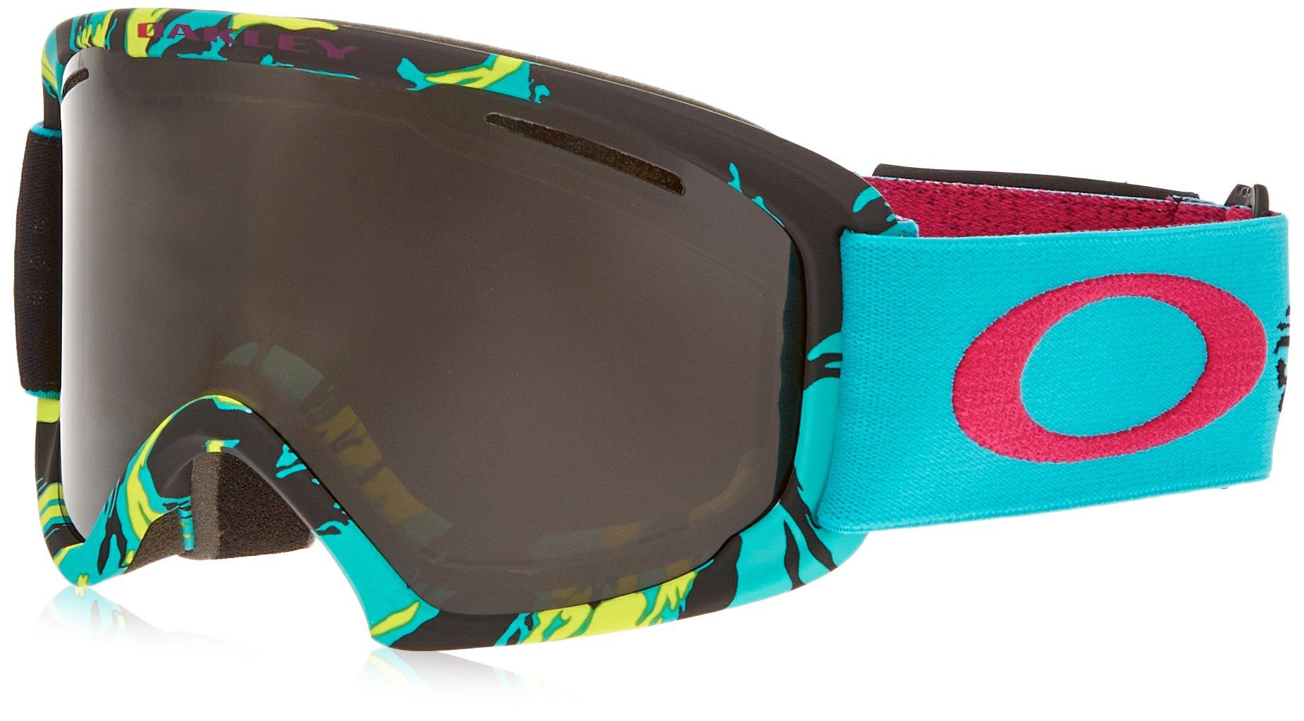 Oakley OO7045-10 O2 XL Eyewear, Neon Camo, Dark Grey Lens by Oakley