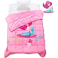 Topblan Kids Fleece Weighted Blanket 3lbs for Toddlers, Ultra Comfy Flannel with Cute Cartoon Prints, Plush Fuzzy Warm…