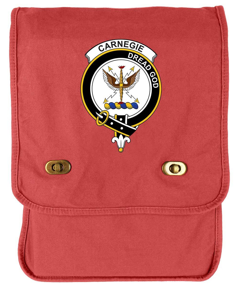 Tenacitee Scottish Clan Crest Badge Carnegie Green Brushed Canvas Messenger Bag