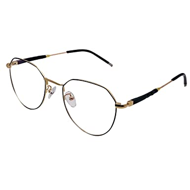 9137dc550c XYAS High End Metal Retro Glasses For Women Delicate Patterns High  Technology Round Eyeglasses (Black-gold)  Amazon.co.uk  Clothing