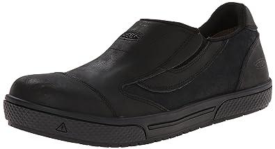 KEEN Utility Men's Destin Slip-On PTC Work Shoe, Black, ...