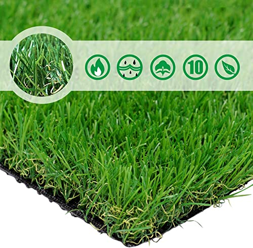 PET GROW 6 x8 Pet Pad Artificial Realistic Thick Fake Mat for Outdoor Garden Landscape Dog Synthetic Grass Rug Turf, 6 FT x8 FT 48 Square FT , Green