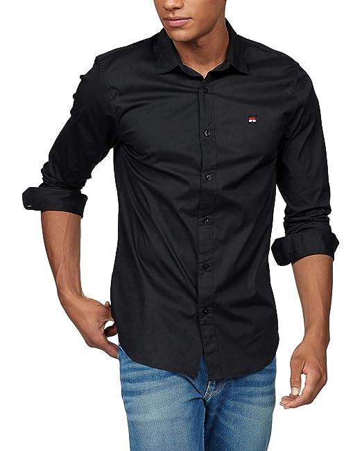 5e98a5fac7 Musen Men Slim Fit Dress Shirt Casual Cotton Solid Button Down Long Sleeve  Formal Shirts