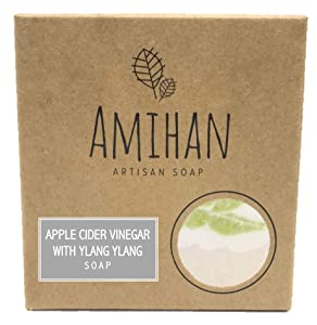 Handmade Shampoo Bar with Essential Oils - Natural and Organic Artisan Bar - Made of the Finest Ingredients for a Luxurious Bath Experience - Apple Cider Vinegar with Ylang Ylang - 1 bar x 110 grams