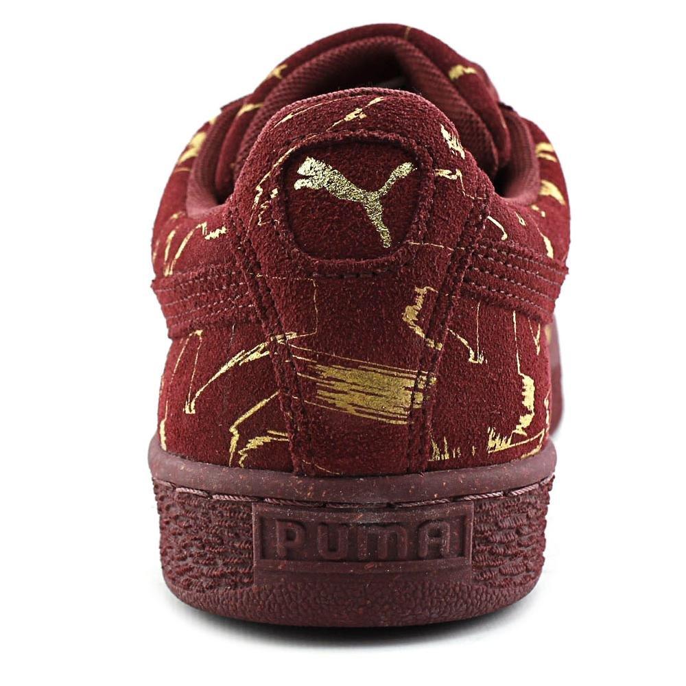 big sale fa536 7c04f Puma Suede Brush Emboss Metallic Men US 9.5 Burgundy Sneakers:  Amazon.co.uk: Shoes & Bags