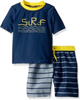 P.S from Aeropostale Boys Set with Short Sleeve Rashguard Swim Shirt