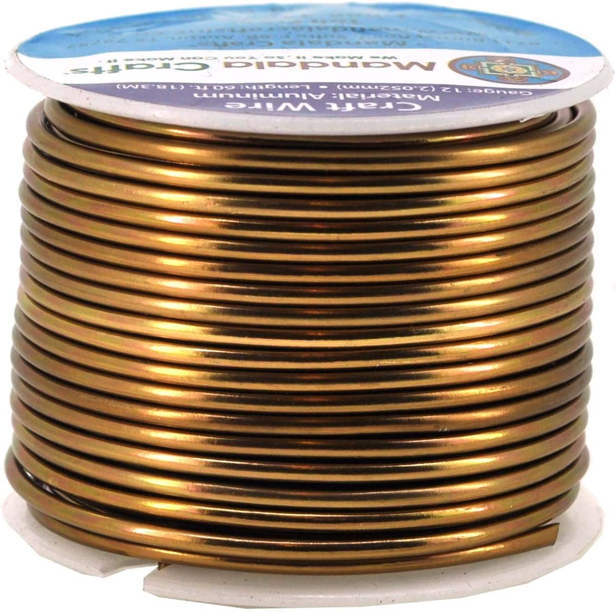 Mandala Crafts Anodized Aluminum Wire for Sculpting, Armature, Jewelry Making, Gem Metal Wrap, Garden, Colored and Soft, 1 Roll(12 Gauge, Brown)
