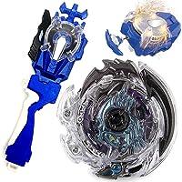 8PC//Set Beyblade Burst Super King Gyro With Sparkling Launcher Grip Storage Box