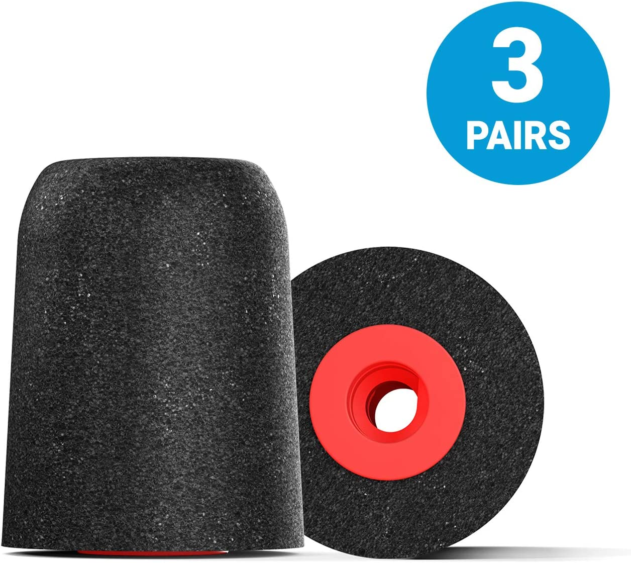 Comply Professional Noise Isolating Earphone Tips for NuForce, ISOtunes PRO, Q-Jays, Etymotic Research, Westone, Shure & More P-Series Memory Foam Replacement Earbud Tips (Medium, 3-pairs)