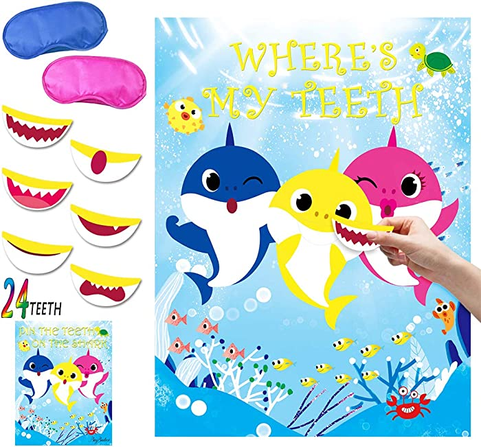 Top 9 Shark Party Game Pin The Teeth