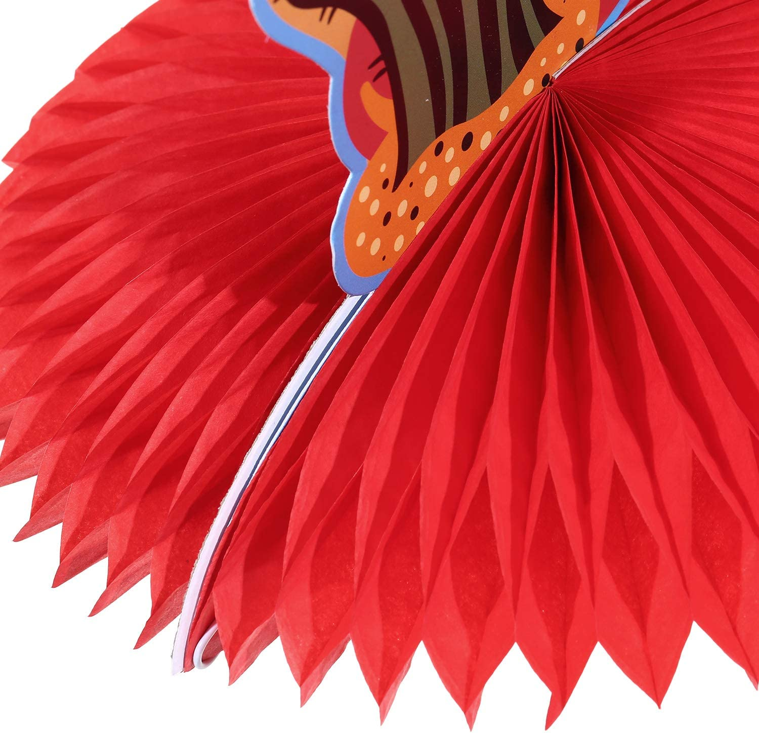12 Pieces Mexican Table Centerpiece Cinco De Mayo Fiesta Table Decorations Colorful Honeycomb Paper Fan Centerpiece for Mexican Theme Party Supplies