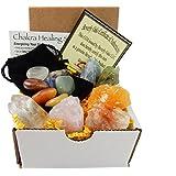 Chakra Mineral Starter Set / Crystal Healing Kit ~ 6 Colorful Mineral Stones Plus 7 Chakra Tumbled Gemstones, Spiritual Metaphysical, Reiki, Chakra, Healing, Bohemian, Natural