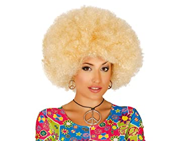 Guirca 4007 - Peluca Afro Rubia Extra
