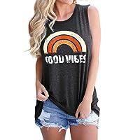Nlife Women Good Vibes Blouse Hoodies Long Sleeve Casual Tank Tops Graphic Tee Shirt...