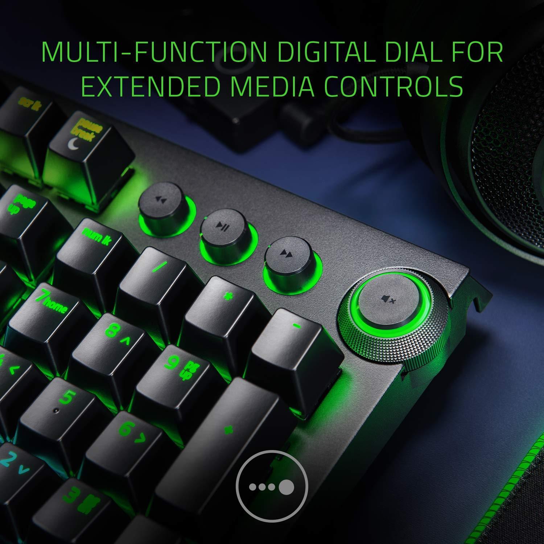 Amazon.com: Razer BlackWidow Elite: Esports Gaming Keyboard - Multi-Function Digital Dial with Dedicated Media Controls - Ergonomic Wrist Rest - Razer ...