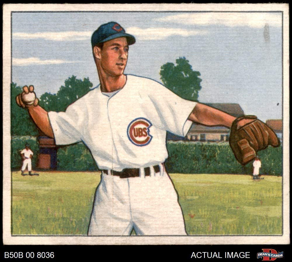 1950 Bowman # 114 Wayne Terwilliger Chicago Cubs (Baseball Card) Dean's Cards 5.5 - EX+ Cubs