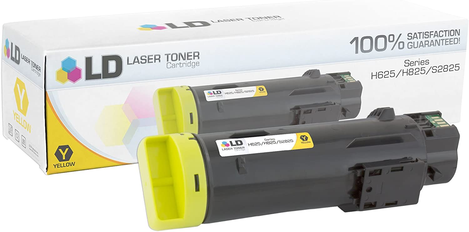 LD Compatible Toner Cartridge Replacement for Dell 593-BBOZ 3P7C4 (Yellow)