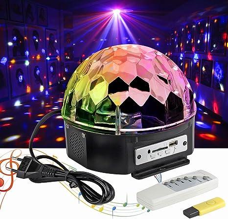 LED Disco Lámpara Partyleuchte RGB Efecto de luz Disco Etapa ...
