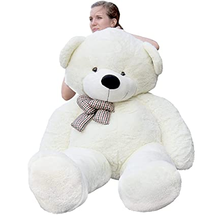Frantic Premium Quality Soft Plush Teddy Bear White -5 Feet